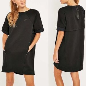 Nike Tech Black Fleece Dress - EUC